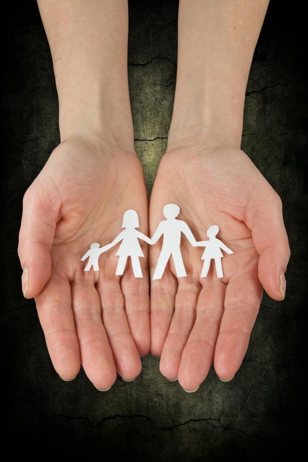 Familie in handen
